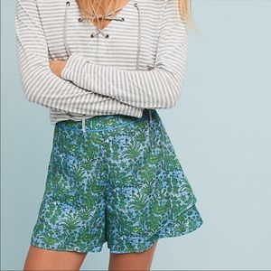 ANTHROPOLOGIE ett:twa Simone Shorts Layered Floral